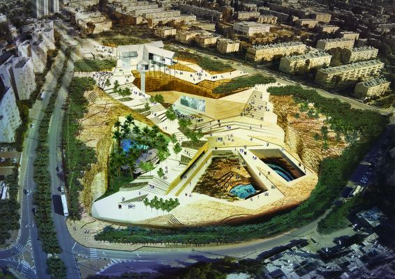 New Forms of Public Space. Be'er Sheva Quarry, Negev Region, Israel. Image courtesy of SCAPE, LOLA, and TOPOTEK1.