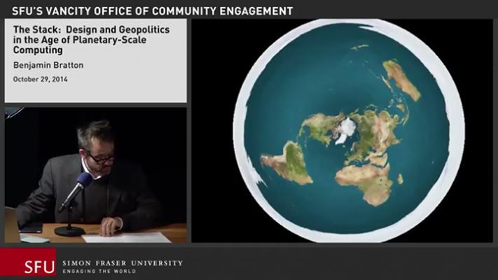 "Figure 5. Benjamin H. Bratton, ""The Stack: Design and Geopolitics in the Age of Planetary-Scale Computing,"" Simon Fraser University, Institute for the Humanities, October 29, 2014, https://www.youtube.com/watch?v=IXan6TvMqgk (accessed N…"