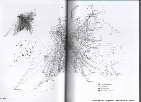 Figure 1.3, p. 20-21. Ryanair route network, 2010