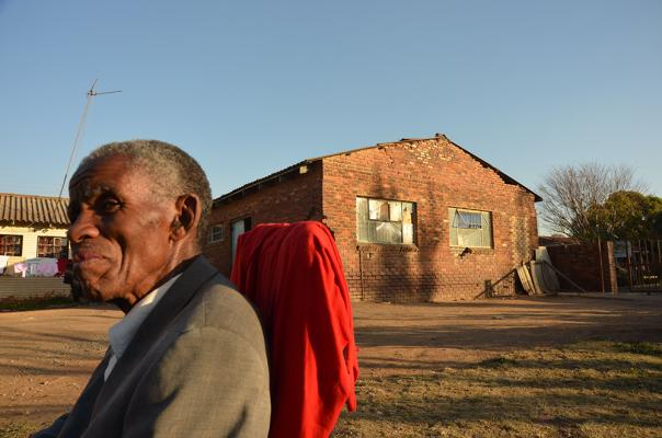 Figure 9: Mr. Richard Hlubi. Mr. Richard Hlubi, 83, boxed at eNtokozweni in the 1950's and proudly speaks of its legacy. An active participant in local politics he attends many local public gathering held in the decaying hall.